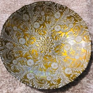 Large gold and silver decorative bowl